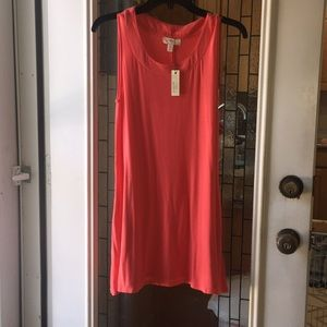 Cupio blush Coral tank tunic with pockets